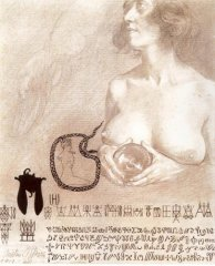 Nude Holding a Crystal Ball (1920)
